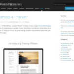 WordPress 4.1 – Dinah is Here.